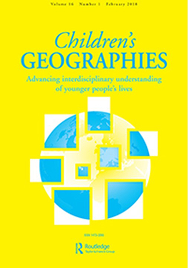 Children's Geographies omslag.