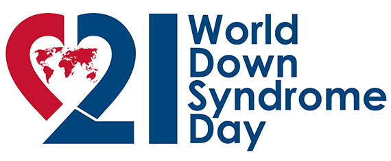 World Down Syndrome Day logo.