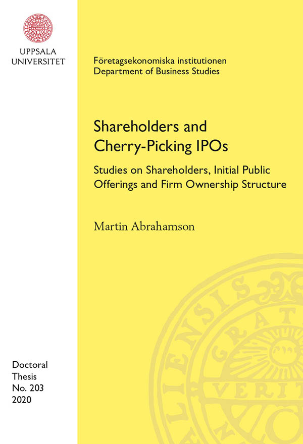 Studies on Shareholders, Initial Public Offerings and Firm Ownership Structure.